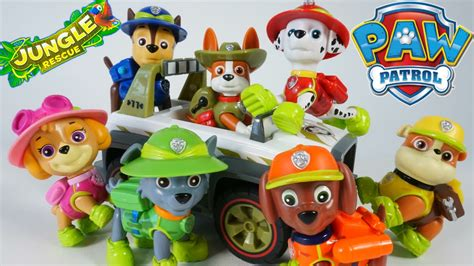 tracker jeep paw patrol paw patrol new pup tracker jungle rescue vehicles chase