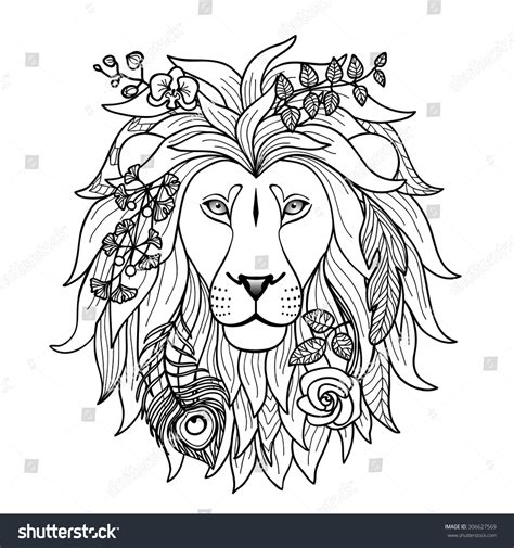 lion head graphic design