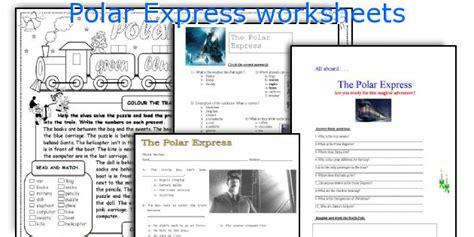 polar express printable activity sheets english teaching worksheets polar express