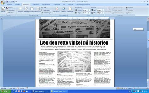 layout i artikel ops 230 t avisen i word 2007 youtube