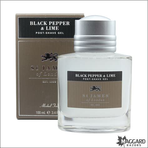 caprylyl capsicum st james of london black pepper lime post shave gel