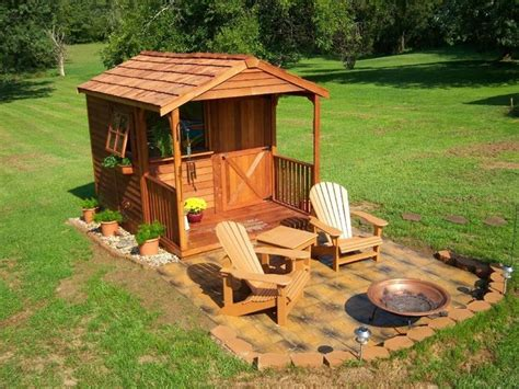 cedarshed clubhouse  shed shed kit  porch