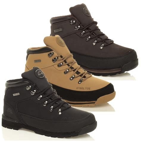mens steel toe cap work boots mens work safety steel toe cap boots leather hiking shoes