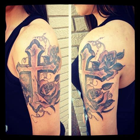 cross tattoo on shoulder girl 47 best sleeve tattoos images on pinterest tatoos