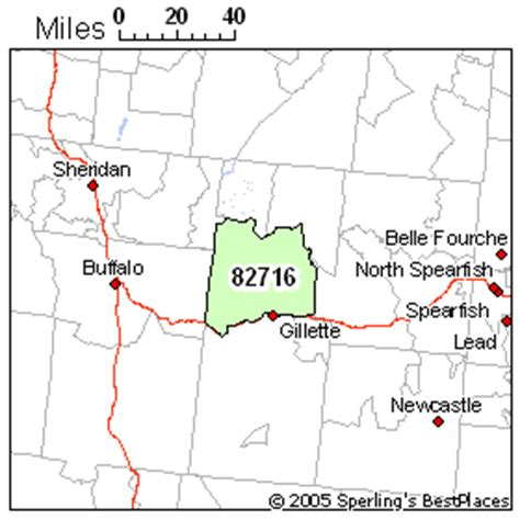 zip code map wyoming best place to live in gillette zip 82716 wyoming