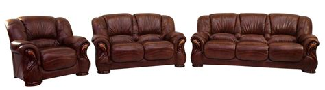 3 2 1 Leather Sofa by Susanna 3 2 1 Italian Leather Sofa Suite Tabak Brown Offer