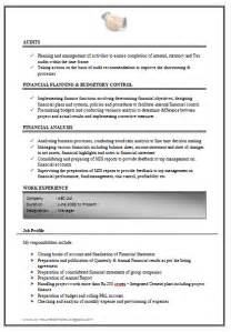 Resume Format Experienced Doc 10000 Cv And Resume Sles With Free Excellent Work Experience Chartered