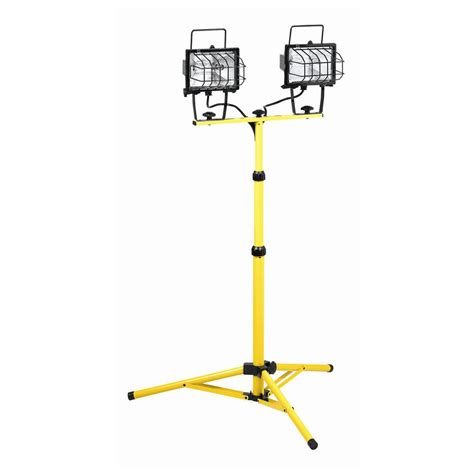 portable halogen work light stand shop k tool international 500 watt halogen stand work