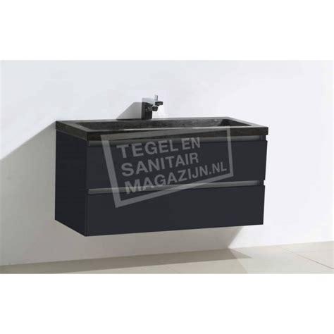 natuursteen badkamermeubel sanilux natuursteen badkamermeubel antraciet hoogglans