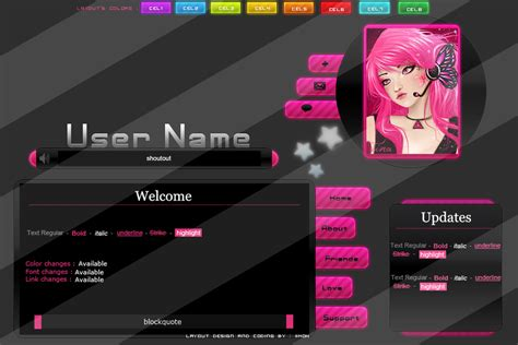layout homepage imvu premade imvu layout mell5 by iim0n on deviantart