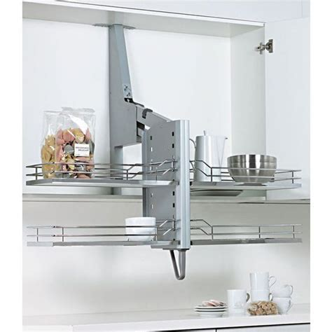 pull down shelf system for cabinets kitchensource