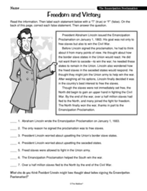emancipation proclamation worksheet worksheets emancipation proclamation worksheet opossumsoft worksheets and printables