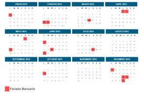 Calendario Bancario Calendario Bancario Y Feriados En En El A 241 O 2015