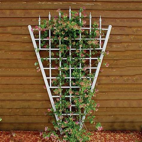 White Metal Garden Trellis Shop Dura Trel 58 In W X 94 In H White Transitional Garden