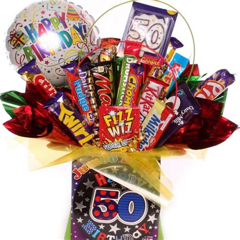 50th birthday chocolate bouquet for him 50th chocolate