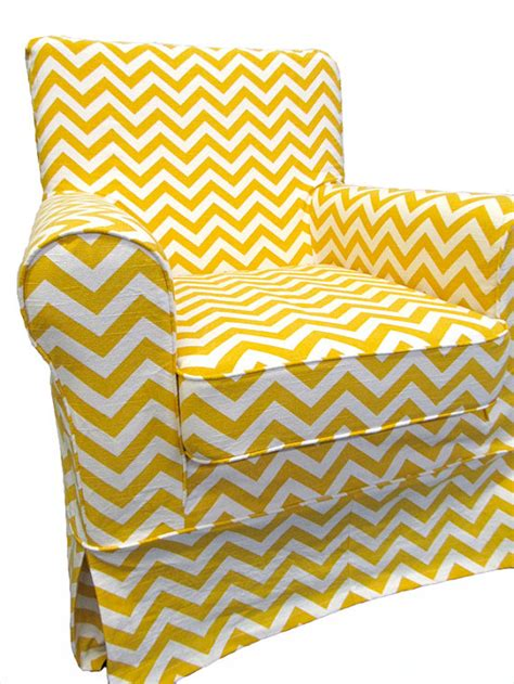 ikea custom slipcovers ikea jennylund custom slipcover in yellow chevron by
