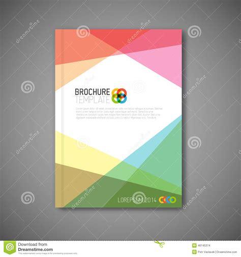 vector layout book modern vector abstract brochure design template stock