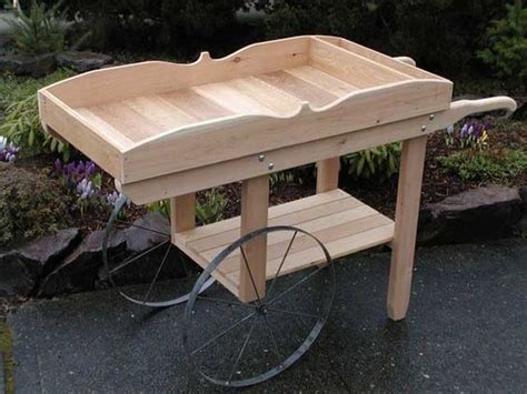 flower potting bench flower cart flower stand bar on a deck or patio or even