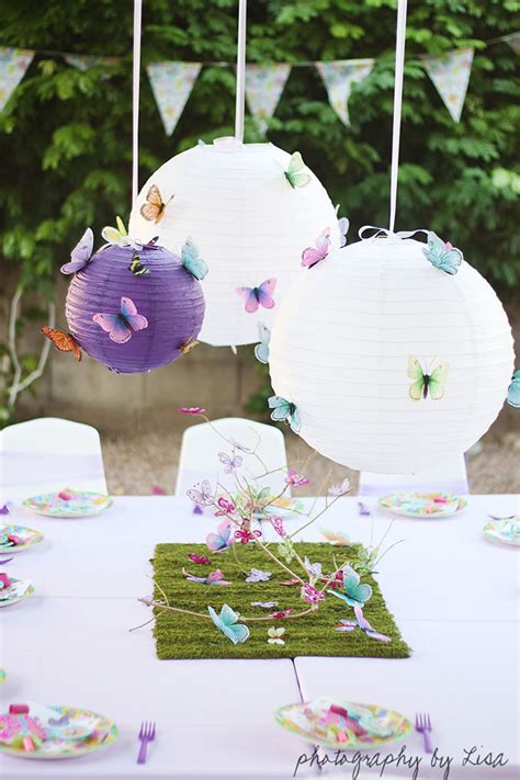 table decoration ideas summer party butterflies paper diy butterfly party elle is 3 chickabug