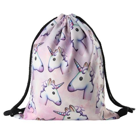 Tas Back Pack Emoji Q561t 2016 new fashion unicorn backpack 3d printing travel