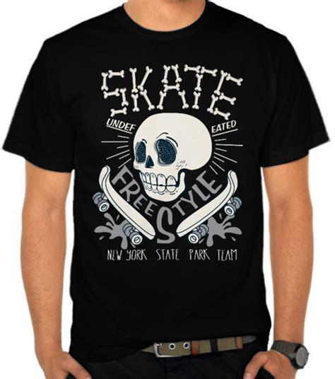 Kaos Skateboard 25 Kx44 Oblong Distro jual kaos skull skate team skating satubaju