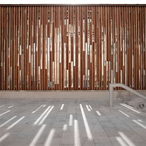 wooden partition wall m57 public library javier callejas architecture photography