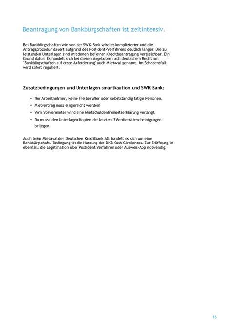 swk bank telefon mietkautionsb 252 rgschaft ratgeber
