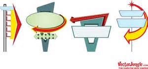 50s design vector motel signs retro vintage pool party pinterest