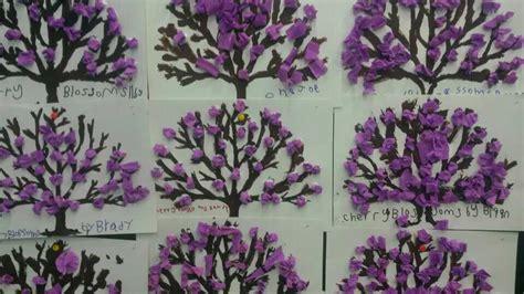 cherry blossom tree card template tissue cherry blossom tree