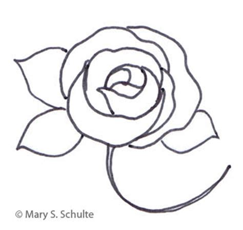 rose flower rose flower template