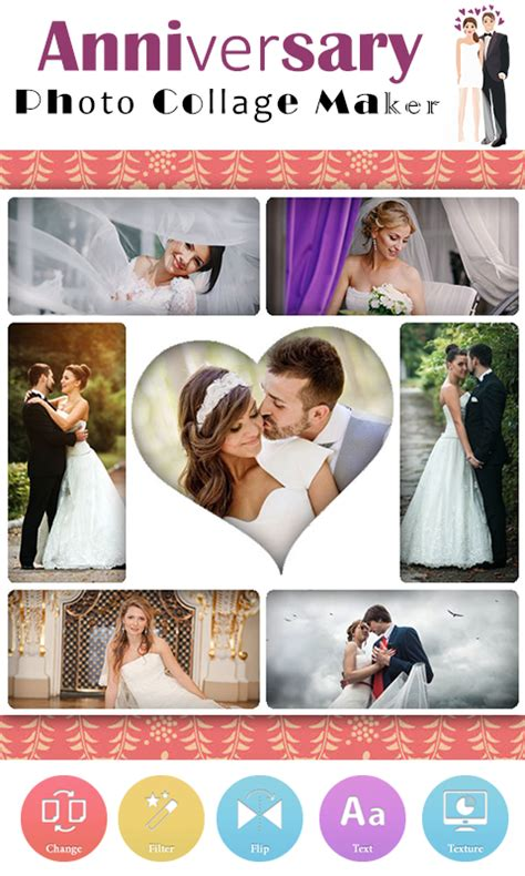 wedding anniversary maker anniversary photo collage android apps on play