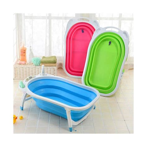 baby travel bathtub baby folding bath tub green ebay