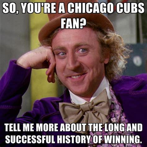 Cubs Fan Meme - fans mock chicago cubs century long world series drought
