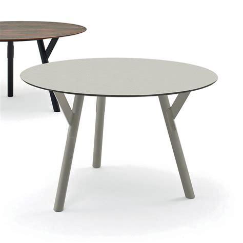 Varaschin Link Round Outdoor Dining Table H 75 Cm Modern
