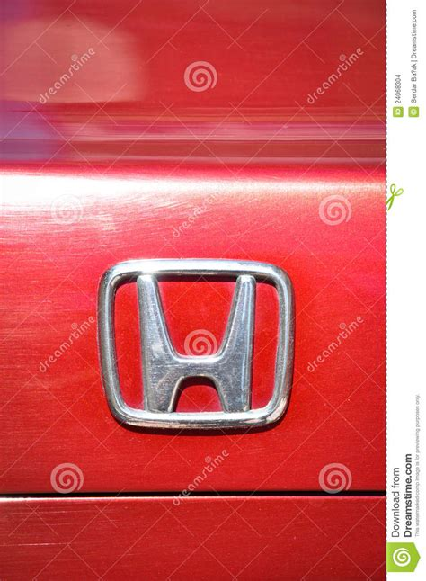 Honda Stock Symbol by Honda Symbol Editorial Stock Image Image 24068304