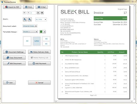 software invoice template simple billing software free hardhost info