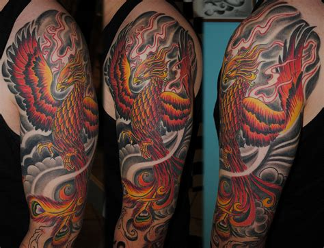 tattoo phoenix half sleeve tattoo sleeve ideas