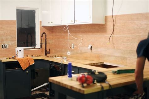 Kitchen Tiles Backsplash How To Make An Inexpensive Plank Backsplash Cover Those