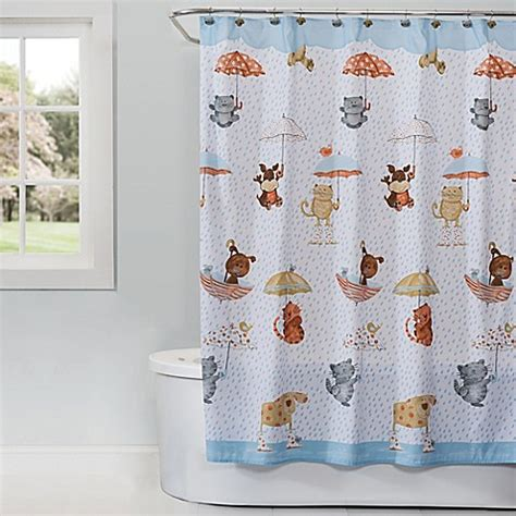 cat and dog shower curtain saturday knight raining cats and dogs shower curtain bed
