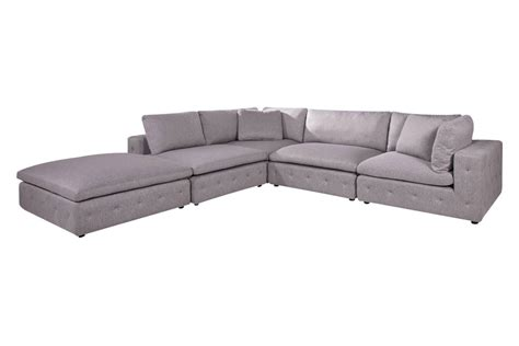 Microfiber Sectional With Ottoman Nemo 4 Microfiber Sectional Matching Ottoman At Gardner White