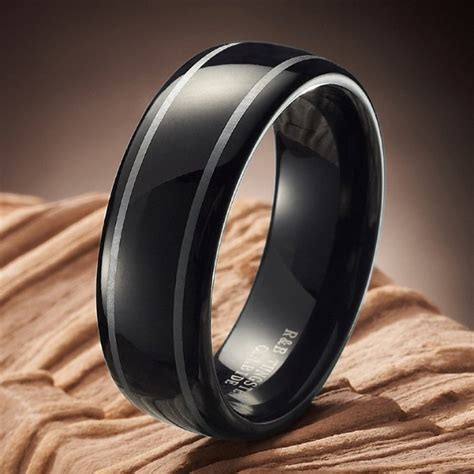 black tungsten mens wedding bands mens black tungsten wedding bands fashion belief