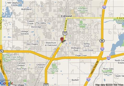where is edmond oklahoma on the map map of sleep inn edmond edmond