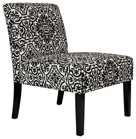 Black White Accent Chair Angelo Home Bradstreet Black And White Damask Upholstered