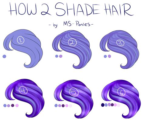 how to shade hair pts how to shade hair details in desc by ms ponies