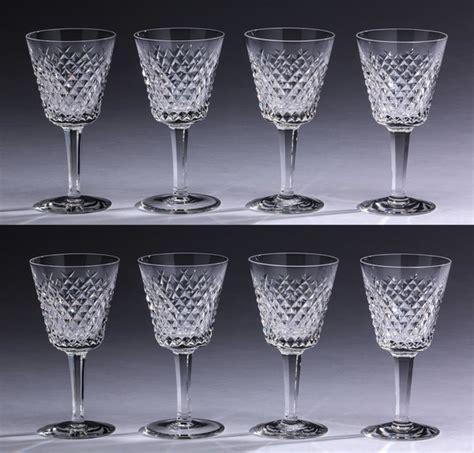 vintage waterford crystal wine glasses alana by 8 waterford crystal alana wine glasses 6 quot h