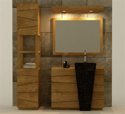 Charmant Vasque Salle De Bain Originale #1: meuble-de-salle-de-bain-rhodes-vasque-noire-l100-en-teck-iaddg-566-1.jpg