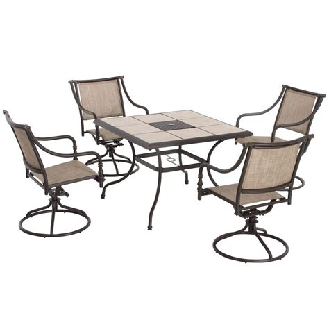 Upc 848681000434 Hton Bay Dining Furniture Andrews 5 Patio Furniture 5 Set