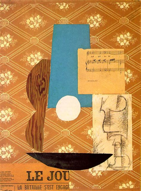 Picasso Synthetischer Kubismus by Apt 3 Synthetic Cubism Picasso S Collage