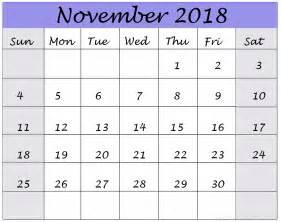 Calendar Nov 2018 November 2018 Calendar December 2018 Calendar