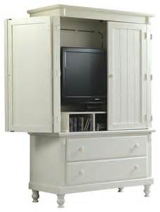 homelegance pottery 44 inch tv armoire in white